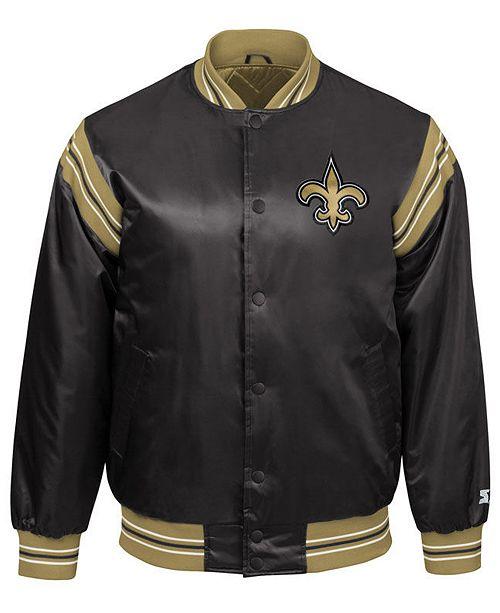 Starter Orleans The Jacket Satin New Saints Men's Enforcer XO8P0Nnwk