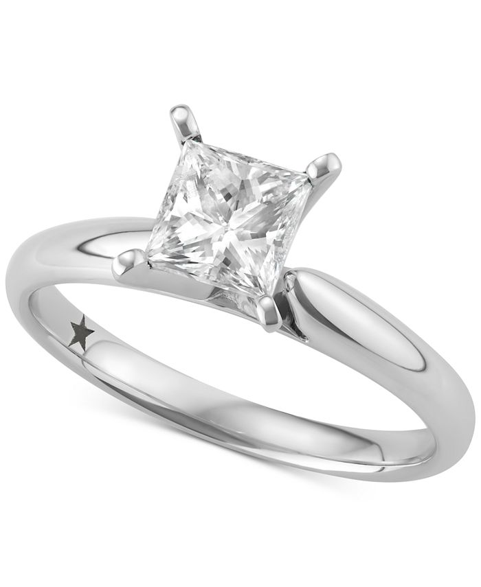 Macy's Star Signature Diamond - Certified ™ Solitaire Engagement Ring (1 ct. t.w.) in 14k Gold