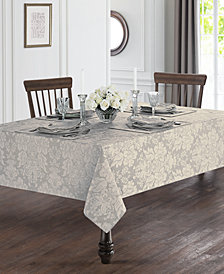 "Waterford Berrigan Silver 90"" Round Tablecloth"
