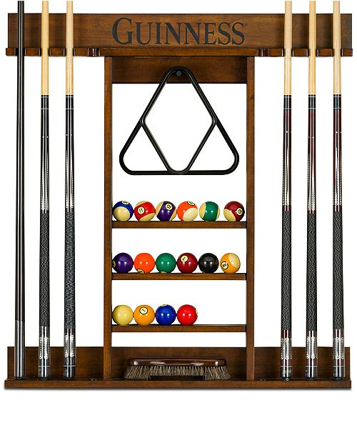 Furniture Guinness Pool Table Accessory Cue Rack, Quick Ship