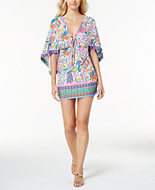 Trina Turk Jungle Beach Paisely-Print Tunic Cover-Up