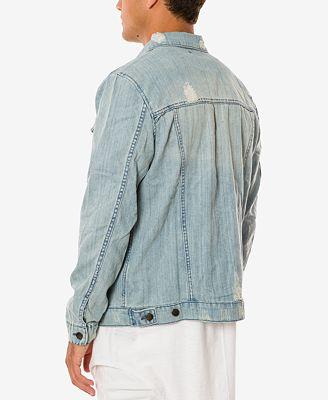 Jaywalker Men S Light Indigo Ripped Denim Jacket Coats Jackets