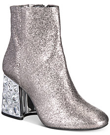 Kenneth Cole New York Women's Rosie Rhinestone Block-Heel Booties