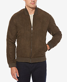 Perry Ellis Men's Faux Suede Bomber Jacket