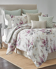 Sanderson Delphiniums 4-Pc. Printed Full/Queen Comforter Set
