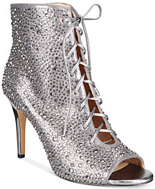 I.N.C. Rikelie Evening Peep-Toe Lace-Up Booties, Created for Macy's