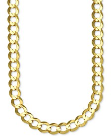 "26"" Open Curb Link Chain Necklace in Solid 10k Gold"