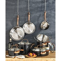 Deals on Cuisinart Onyx Black & Rose Gold 12-Pc Stainless Steel Cookware Set