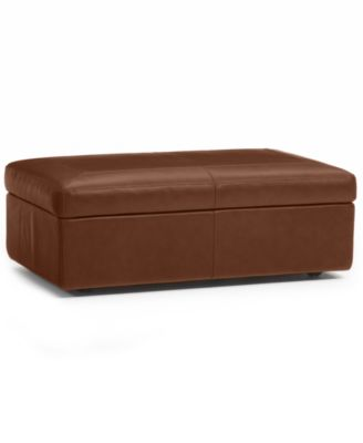 Ricardo Leather Storage OttomanFurnitureMacys