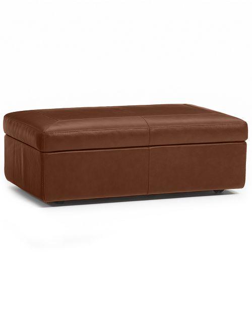 Ricardo Italian Leather Sofas: Furniture Ricardo Leather Storage Ottoman & Reviews