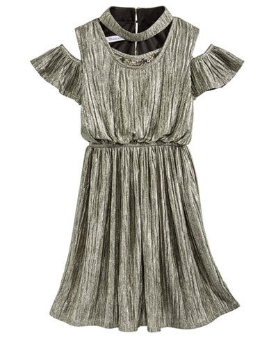 Bonnie Jean Metallic Boudre Dress, Big Girls