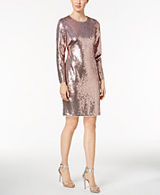 Calvin Klein Sequined Sheath Dress, Created for Macy's