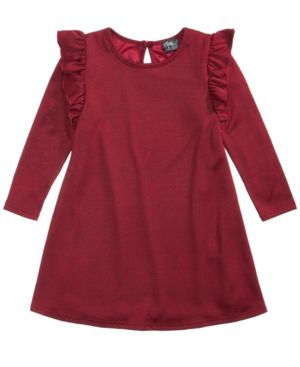 Pink & Violet Ruffle Sweater Dress, Toddler Girls (2T-5T) 5408524