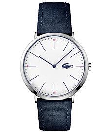 Lacoste Men's Moon Ultra Slim Navy Blue Nylon Strap Watch 40mm