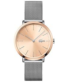 Women's Moon Ultra Slim Stainless Steel Bracelet Watch 35mm