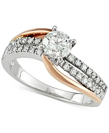Diamond Two-Tone Engagement Ring (1 ct. t.w.) in 14k White and Rose Gold