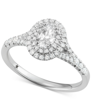 Oval Cut Halo Engagement Ring (1 ct. t.w.) in 14k White or Yellow Gold