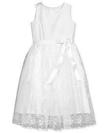 Lavender by US Angels Floral Embroidered Dress, Toddler Girls