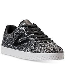 Tretorn Women's Camden 5 Glitter Casual Sneakers from Finish Line