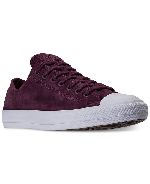 c62cc824531 ... Converse Men s Chuck Taylor All Star Suede Ox Casual Sneakers from  Finish ...