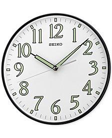 Seiko Black Wall Clock