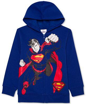 DC Comics® Superman-Print Sound Hoodie, Toddler Boys