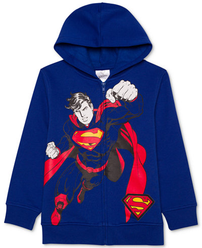 DC Comics® Superman-Print Sound Hoodie, Little Boys (4-7)