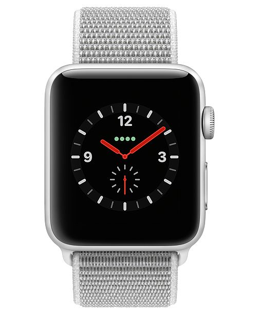 793a6938e Apple Watch Series 3 (GPS + Cellular), 42mm Silver Aluminum Case with  Seashell ...
