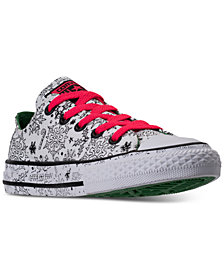 Converse Little Girls' Chuck Taylor All Star Ox Coloring Book Casual Sneakers from Finish Line