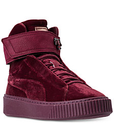 Puma Women's Suede Platform Mid Velour Casual Sneakers from Finish Line