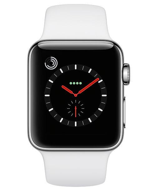 765e03da4e0 ... 38mm Silver Aluminum Case with White Sport Band. 1 reviews.  379.00. Apple  Watch Series 3 Apple nbsp Watch Series nbsp 3 GPS nbsp + nbsp Cellular ...