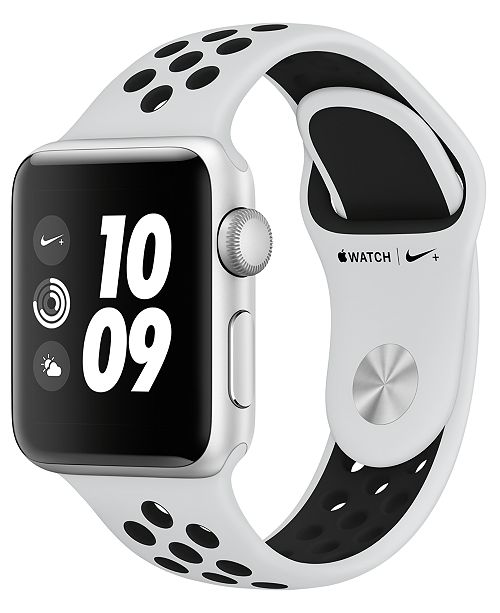 Apple Watch Nike+ (GPS), 38mm Silver Aluminum Case with Pure Platinum/Black Nike Sport Band