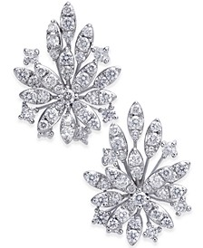 Diamond Cluster Flower Stud Earrings (1-3/4 ct. t.w.) in 14k White Gold