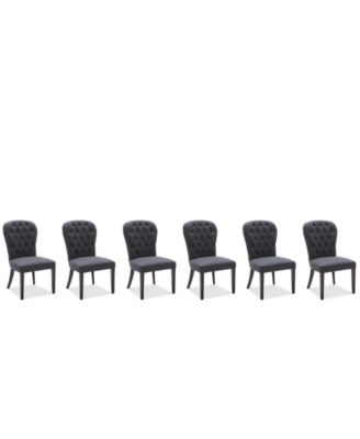 Caspian Upholstered Round Back Dining Chairs, Set of 6, Created for Macy's