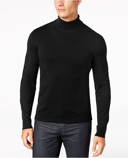 Alfani Mens Turtleneck Sweater Created For Macys T Shirts Men