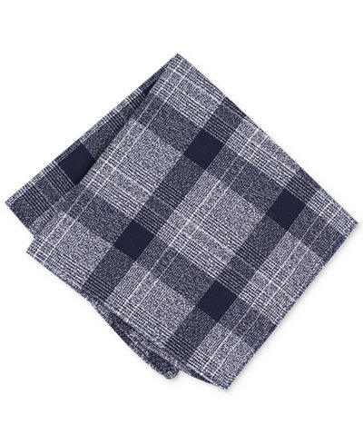 Bar III Men's Tammenga Plaid Pocket Square, Created for Macy's