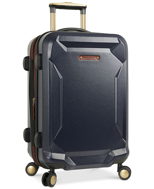 """Timberland Basin Harbor 21"""" Hardside Expandable Carry-On Spinner Suitcase"""
