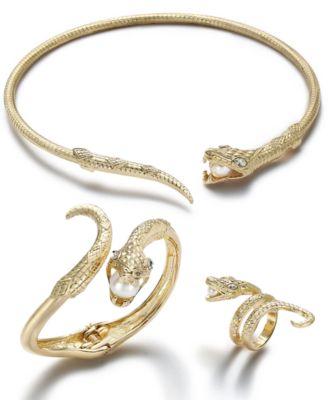 Thalia Sodi GoldTone Pav Imitation Pearl Snake Jewelry Separates