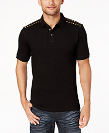 I.N.C. Men's Studded Polo, Created for Macy's