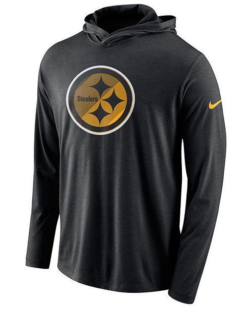 ... Nike Men s Pittsburgh Steelers Blend Hooded Long Sleeve T-Shirt ... 65578b21a