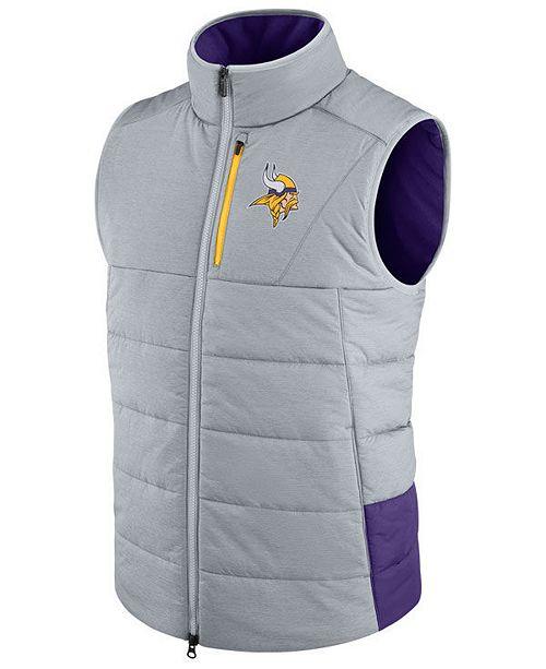 sports shoes d8f0a 49a0e Nike Men's Minnesota Vikings Sideline Vest & Reviews ...
