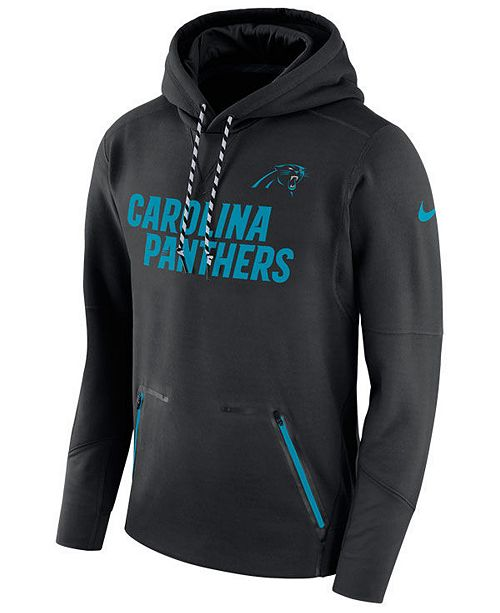 eba55f472 Nike Men s Carolina Panthers Player Therma Pullover Hoodie - Sports ...