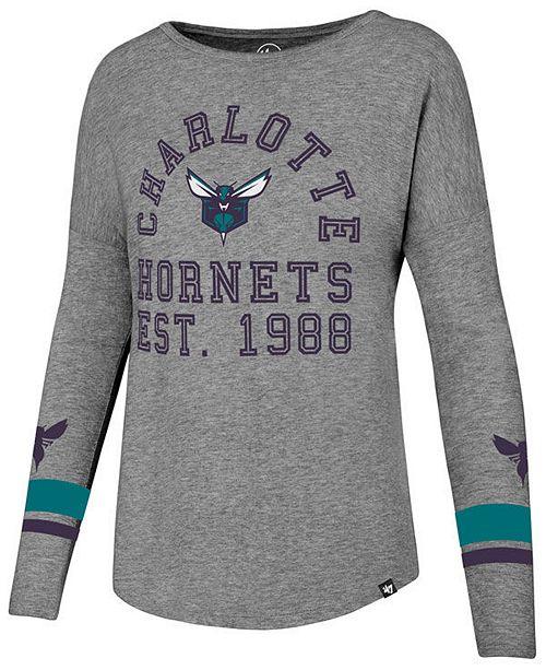 '47 Brand Women's Charlotte Hornets Encore Long Sleeve T-Shirt