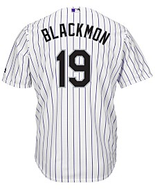 Majestic Men's Charlie Blackmon Colorado Rockies Player Replica Cool Base Jersey