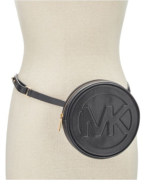 Michael Kors Round MK Logo Belt Bag   Reviews - Handbags ... ccf543fba4c7f