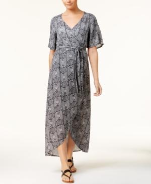 Roxy Juniors Printed Wrap Dress