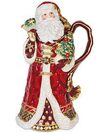 Fitz and Floyd Renaissance Holiday Santa Pitcher