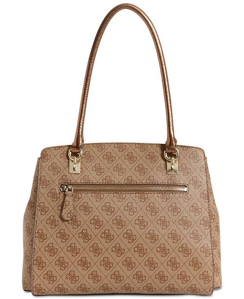 b6bf745aeb GUESS Sibyl Signature Large Girlfriend Satchel   Reviews - Handbags ...