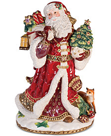 Fitz and Floyd Renaissance Holiday Santa Figurine