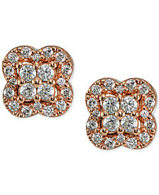 Giani Bernini Cubic Zirconia Cluster Stud Earrings, Created for Macy's